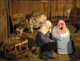 Mary at the Manger