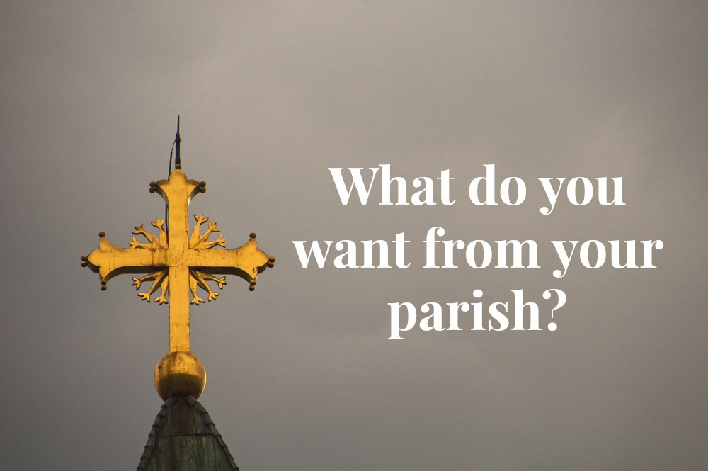 What do you want from your parish? {Social, Admin, & Communications}