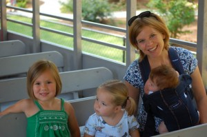 The Wicker girls on the Stone Mountain train