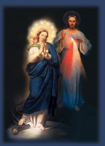 Divine Mercy Mary & Jesus