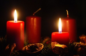 second week of advent peace candle