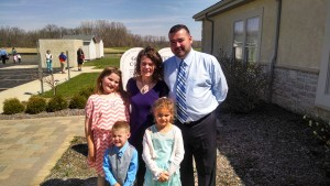 He is Risen! That means we Reinhards get out fancy duds and take squinty pictures facing the sun after Mass.