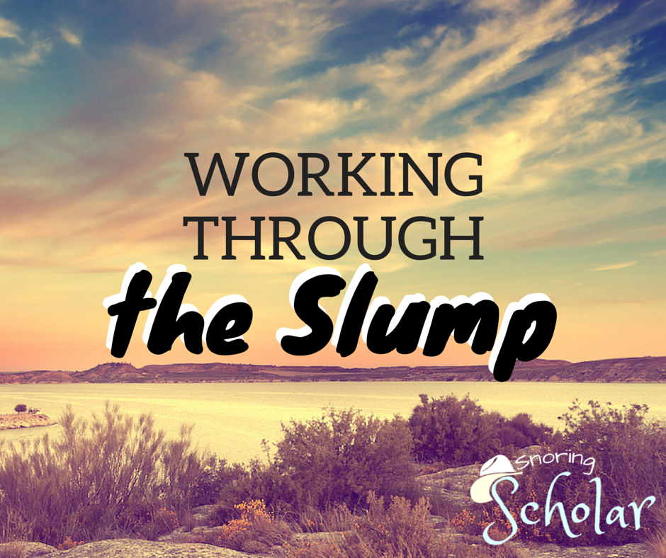 Working through the Slump - SnoringScholar.com