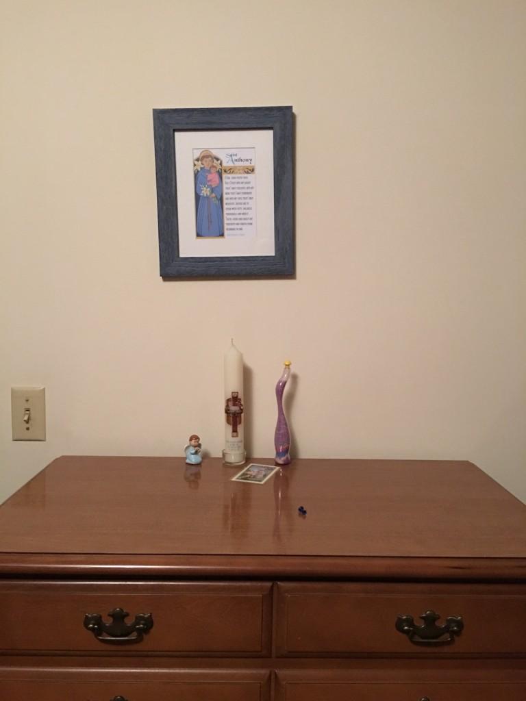 baptismal candle dresser1