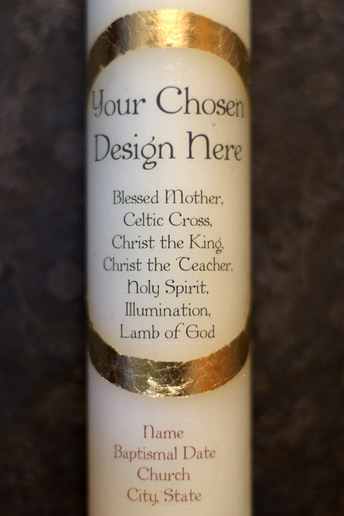 If you're looking for a perfect gift, look no farther than these beautiful custom baptismal candles!