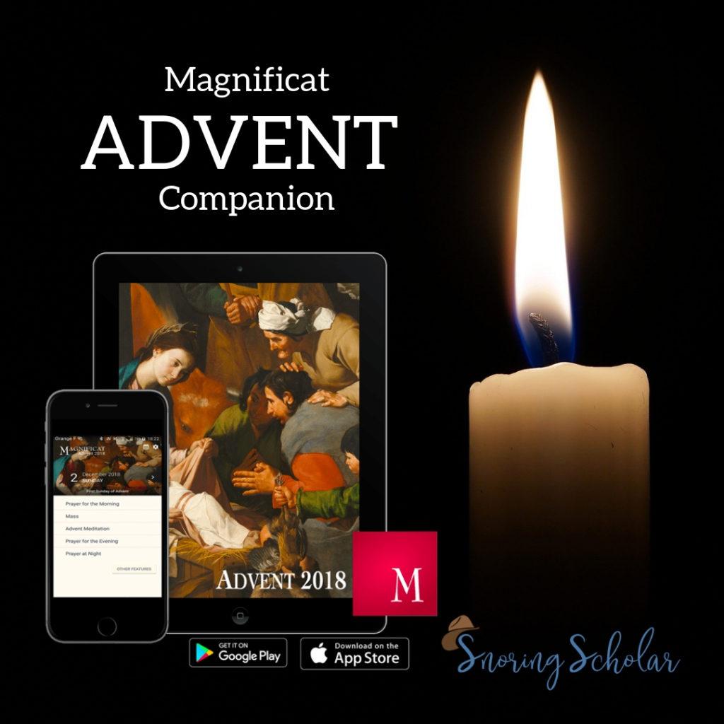 Magnificat Advent app 2018 - Sarah Reinhard Snoring Scholar