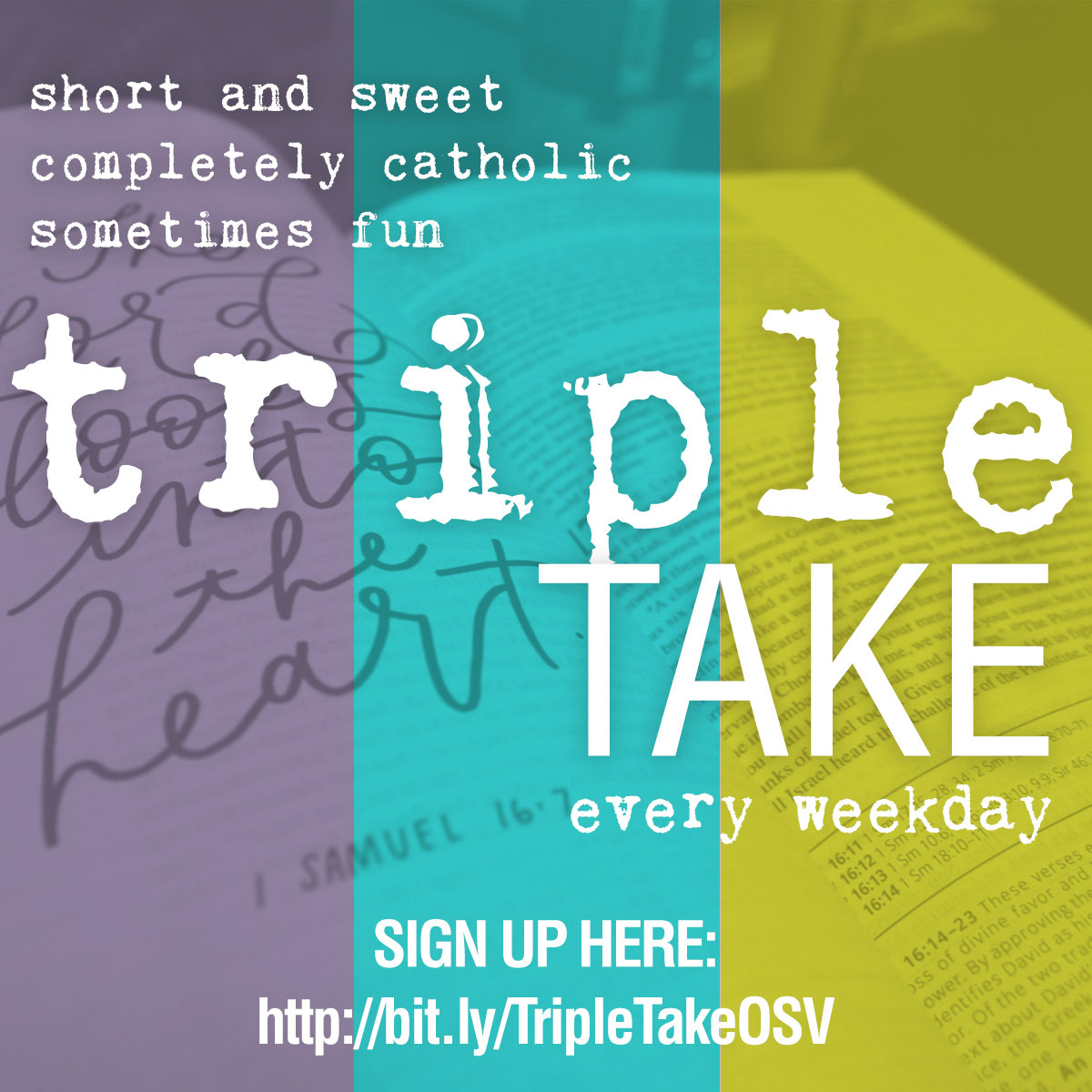 Join me for my weekday Triple Take at Our Sunday Visitor