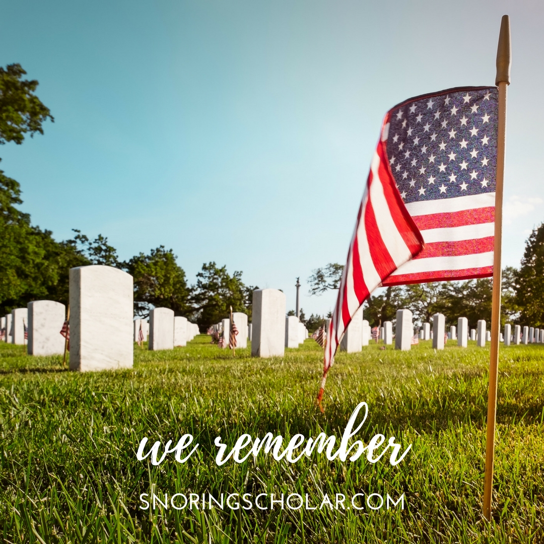 Memorial Day: We Remember - Snoring Scholar
