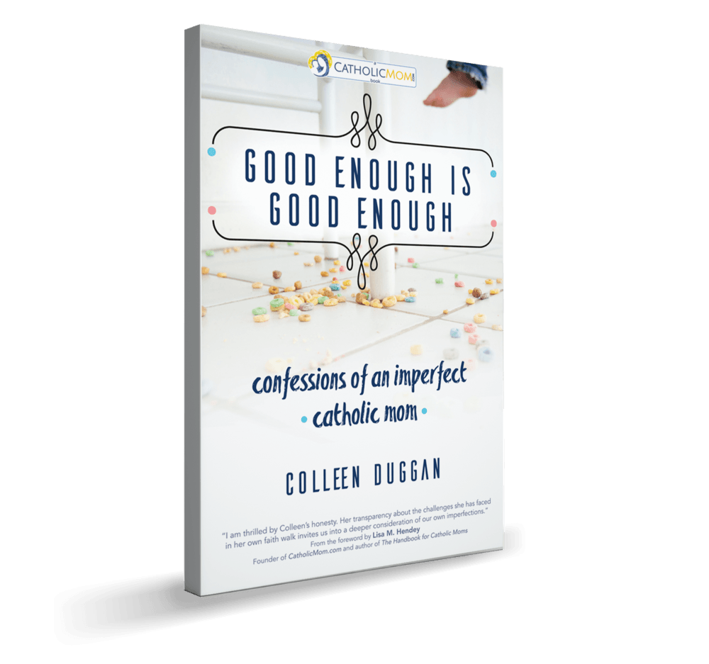 Good Enough Is Good Enough - A book every Catholic mom should read. Review by Sarah Reinahrd at SnoringScholar.com