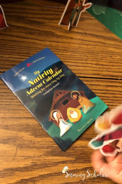 If you're looking for an Advent calendar that's easy and Christ-focused AND kid-friendly, check this out this one from Ignatius Press.